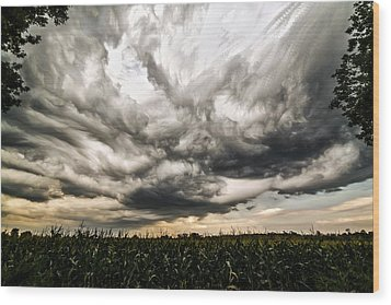 Twisted Sky Wood Print
