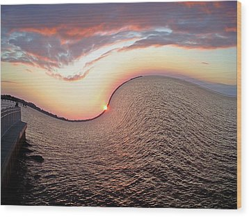 Wood Print featuring the photograph Twisted Sunset by Aimee L Maher Photography and Art Visit ALMGallerydotcom
