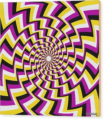 Twisting Spiral Wood Print