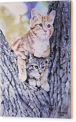Two Amigos Wood Print by Hendrik Hermans