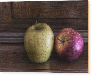 Two Apples Wood Print by Leonardo Marangi