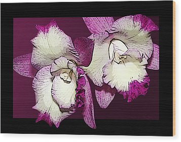 Two Baby Orchids Wood Print by Phyllis Denton