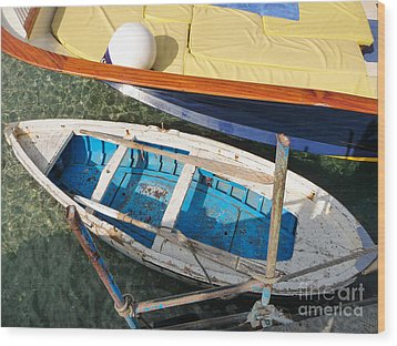 Wood Print featuring the photograph Two Boats by Mike Ste Marie