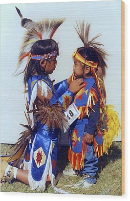 Wood Print featuring the photograph Two Brothers by Debra Kaye McKrill