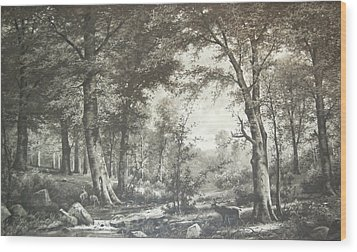 Two Centuries Ago Wood Print by Sherlyn Morefield Gregg