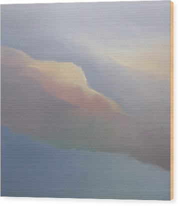 Wood Print featuring the painting Two Clouds by Cap Pannell