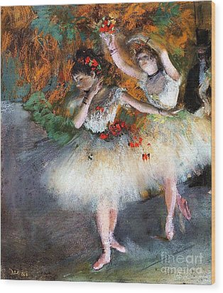 Two Dancers Entering The Scene Wood Print by Pg Reproductions