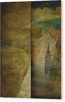 Two Delicate Screens Wood Print by Sarah Vernon