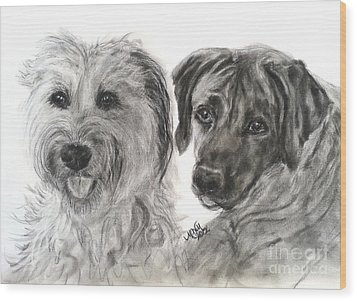 Two Dog Night Wood Print by Michelle Wolff