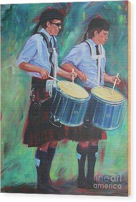 Two Drummers Wood Print