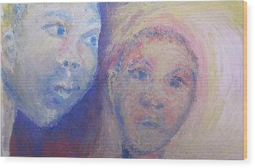 Two Faces Wood Print by Cherie Sexsmith