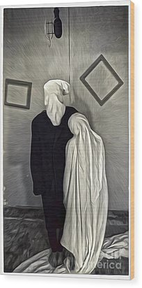 Two Ghosts Wood Print by Gregory Dyer