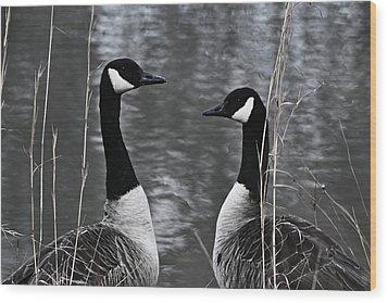 Two Goose Tango Wood Print