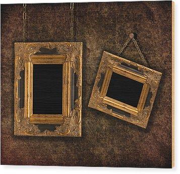 Two Hanging Frames Wood Print by Amanda Elwell