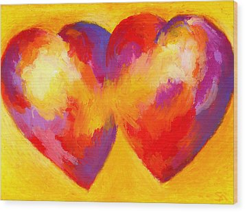 Two Hearts Beat As One Wood Print by Stephen Anderson