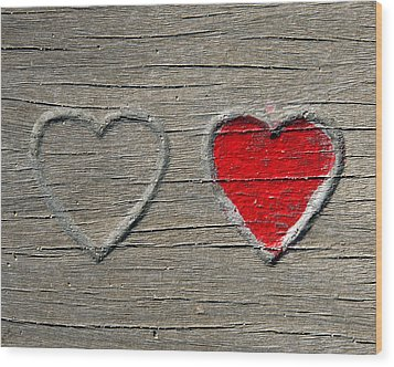 Wood Print featuring the photograph Two Hearts by Brooke T Ryan