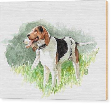 Two Hounds Wood Print by Debra Jones