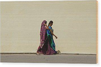 Two Ladies Wood Print by Kees Colijn