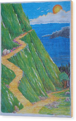 Wood Print featuring the painting Two Paths by Matt Konar