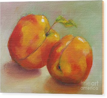 Two Peaches Wood Print