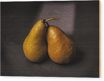 Two Pear Wood Print by Peter Tellone