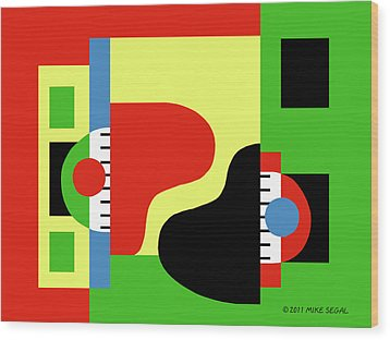 Two Pianos Wood Print
