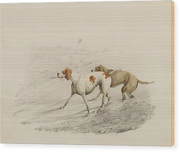 Two Pointers Wood Print by Henry Thomas Alken
