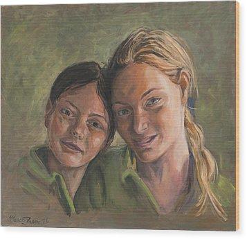 Two Sisters Wood Print by Marco Busoni
