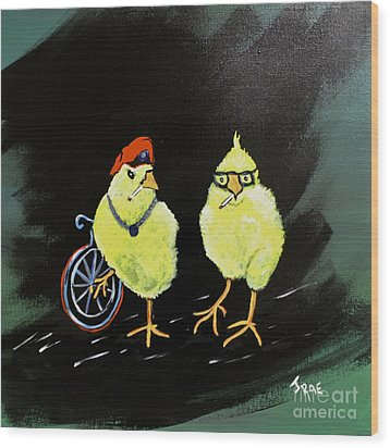 Two Smokin Hot Chicks Wood Print
