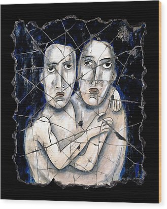 Two Souls Wood Print by Steve Bogdanoff