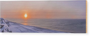 Two Sundogs Hang In The Air Over The Wood Print by Kevin Smith