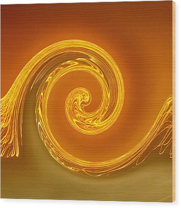 Two-toned Swirl Wood Print by Art Block Collections