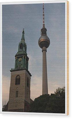 Two Towers In Berlin Wood Print