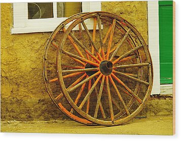 Two Wagon Wheels Wood Print by Jeff Swan