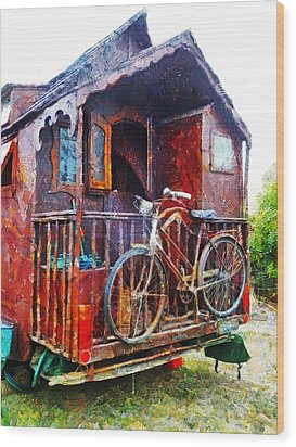 Two Wheels On My Wagon Wood Print