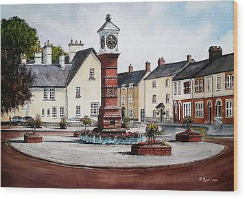 Twyn Square Usk Wales Wood Print by Andrew Read