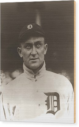 Ty Cobb 1915 Wood Print by Unknown