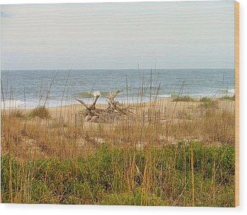 Tybee Island Beach Wood Print by Kay Gilley