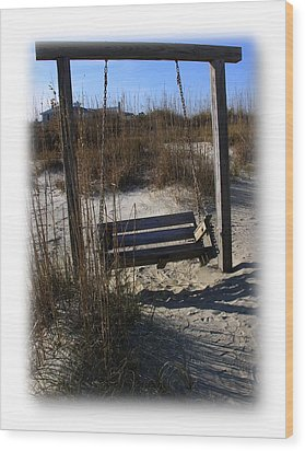 Wood Print featuring the photograph Tybee Island Georgia by Jacqueline M Lewis