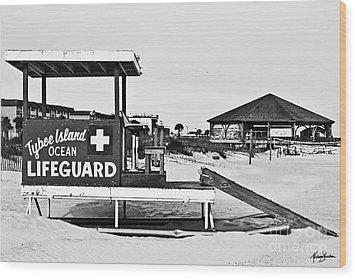 Tybee Island Lifeguard Stand Wood Print
