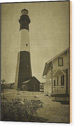 Tybee Island Light Station Wood Print by Priscilla Burgers