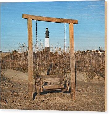 Tybee Island Lighthouse Wood Print by Steven  Michael