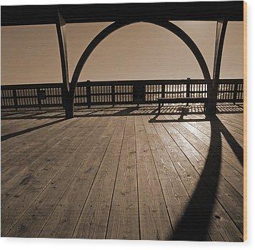 Tybee Island Pier Wood Print by Steven  Michael