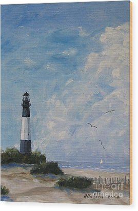 Tybee Light Wood Print