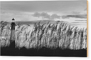 Tybee Lighthouse One Wood Print by Steve Archbold