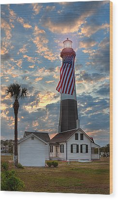 Tybee Lighthouse Wood Print by Peter Tellone