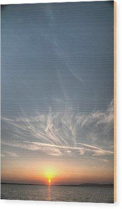 Tybee Sunset 2 Wood Print by Dem Wolfe