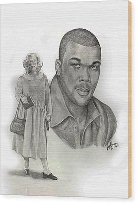 Tyler As Madea Wood Print by Joyce Hayes