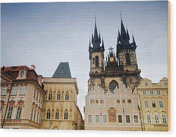 Tyn Church In Prague Wood Print by Michal Bednarek