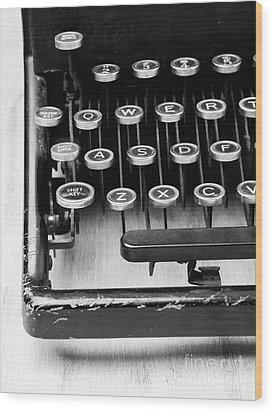 Typewriter Triptych Part 1 Wood Print by Edward Fielding